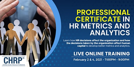 2nd Professional Certificate in HR Metrics and Analytics tickets