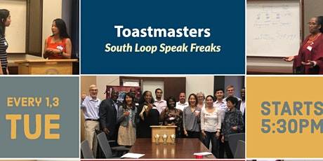 South Loop Speak Freaks Toastmasters Club #7079 Virtual Zoom Club Events! tickets