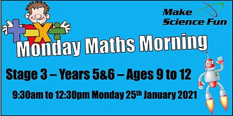 Monday Maths Morning - Stage 3 Ages 9 to 12 tickets