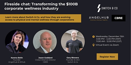 Fireside chat: Transforming the $100B corporate wellness industry tickets