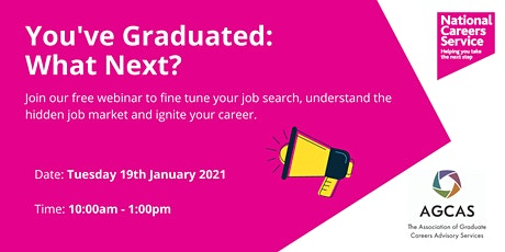 You've Graduated: What Next? tickets