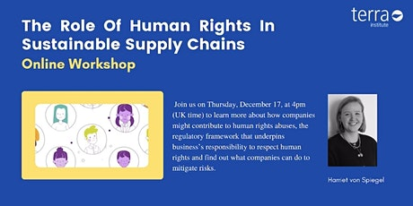 The Role of Human Rights in Sustainable Supply Chains tickets