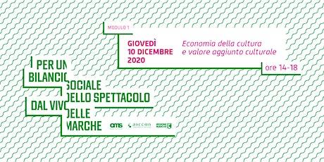 MODULO 1: Economia della cultura e valore aggiunto culturale biglietti