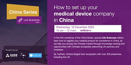How to set up your Medical Device company in China tickets