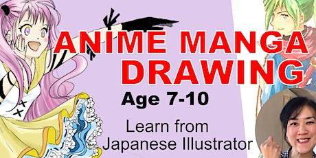 Anime Manga Drawing Basic // Kids 7~10// 45mins tickets