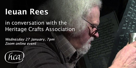 Ieuan Rees in conversation with the Heritage Crafts Association tickets