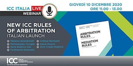 ICC 2021 Rules Of Arbitration – Italian Launch biglietti