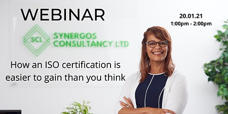 Webinar - How an ISO certification is easier to gain than you think tickets