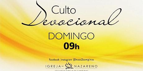 Culto Devocional -  13/12 - 09h tickets