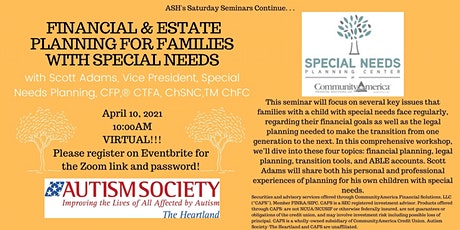 Saturday Seminar: Financial & Estate Planning for Families w/ Special Needs tickets
