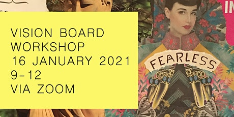 Clarify your January 2021 goals with my step-by-step vision board workshop tickets