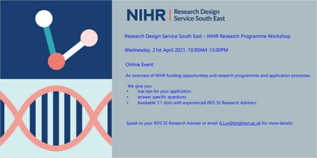 Research Design Service South East - NIHR Research Programme Workshop tickets
