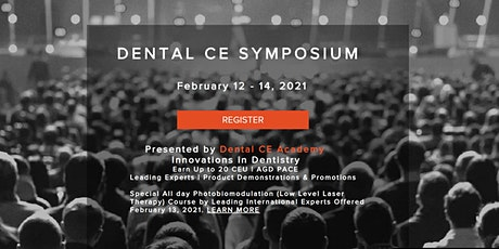 Dental CE Symposium. Earn up to 20 CEU at No Charge. tickets