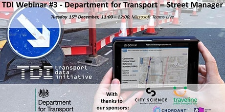 TDI Webinar #3 - Department for Transport (Street Manager) tickets