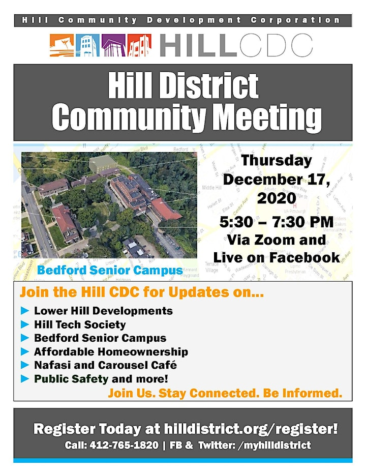 Hill District Virtual Community Meeting - December 17, 2020 image