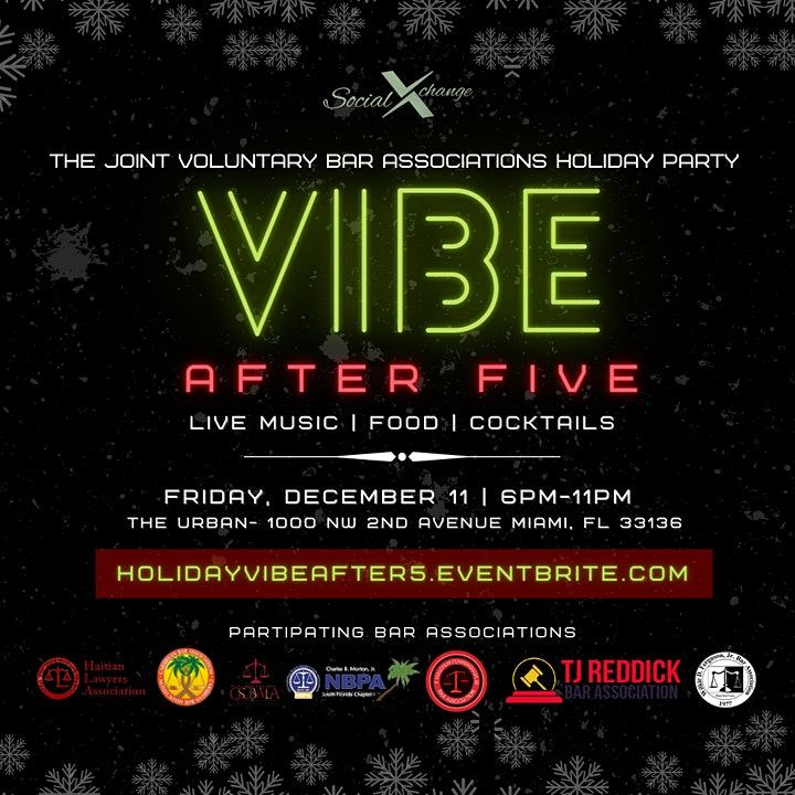 #VibeAfter5 Holiday Party |  Hosted by The Joint Voluntary Bar Association image
