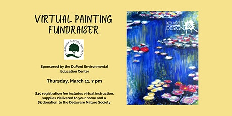 Virtual Painting FUNdraiser - Water Lilies- Delaware Nature Society tickets