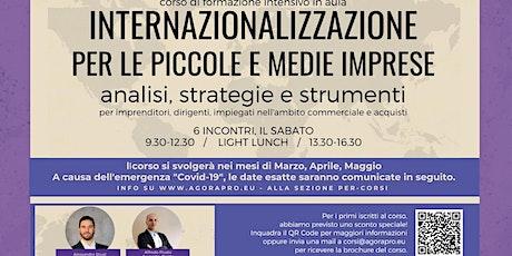 Internazionalizzazione per le PMI: analisi, strategie e strumenti biglietti