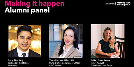 Making it Happen - Morning & Evening MBA Alumni Panel tickets