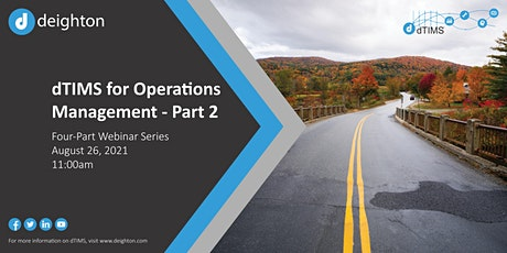 dTIMS for Operations Management - Part 2 tickets