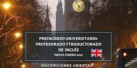 Curso de Pre-ingreso Universitario (INGLES) Facultad de Lenguas entradas
