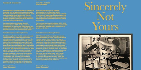 Sincerely Not Yours – Hester Scheurwater - solo tentoonstelling tickets