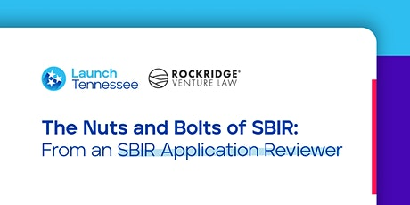 The Nuts and Bolts of SBIR: From an SBIR Application Reviewer tickets