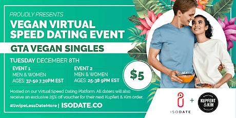 Isodate's GTA Vegan Virtual Speed Dating tickets