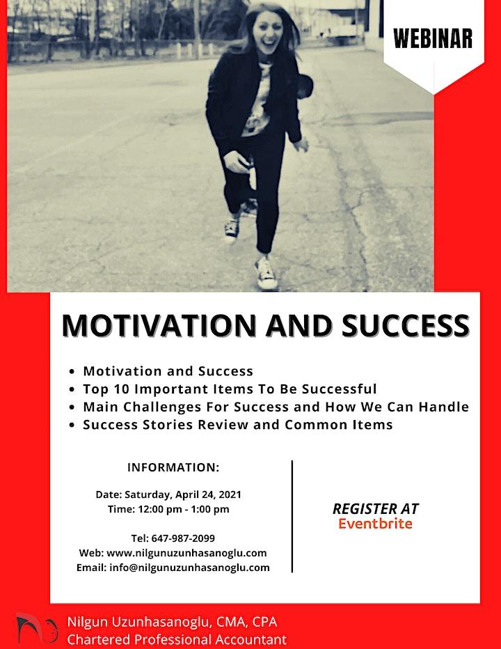 MOTIVATION AND SUCCESS WEBINAR image