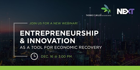 Entrepreneuriship and Innovation As a Tool For Economic Recovery tickets