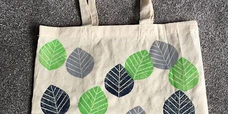 Lino Printing - Tote Bag tickets