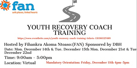 Youth Recovery Coach Training tickets