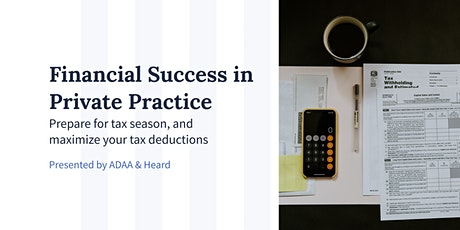 Prepare for Tax Season, and Maximize Your Tax Deductions tickets