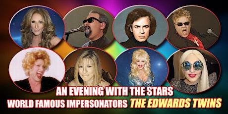 Cher, Elton, Bette Midler, Bocelli, Streisand  Edwards Twins Impersonators tickets