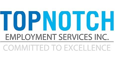 Topnotch Employment Services Job Fair tickets