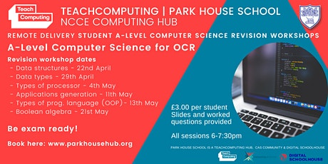 Remote delivery student A-Level Computer Science revision workshops (OCR) tickets
