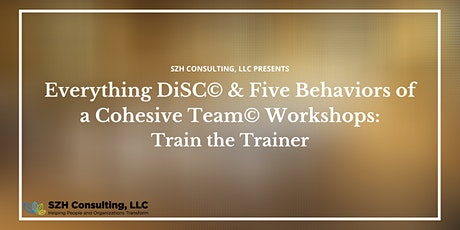 SZH Consulting Presents: Everything DiSC Workplace Facilitator Training 1/3 tickets