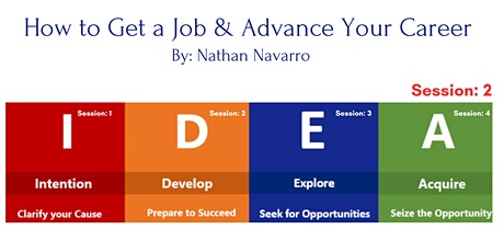 Session:2 How to Get a Job & Advance Your Career tickets