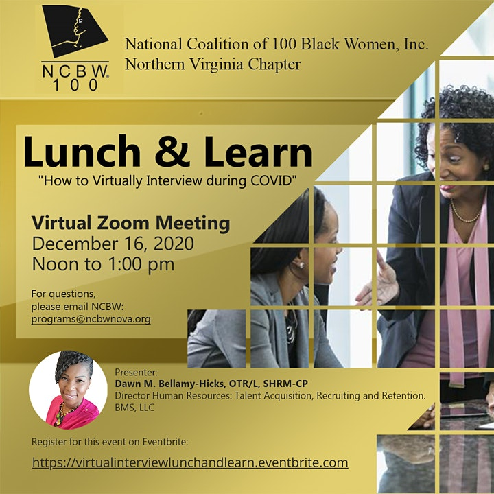 Lunch and Learn: How to Virtually Interview During COVID image