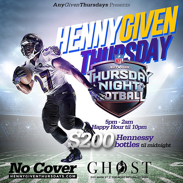 HENNYGIVEN Thursday's @ GHOST BAR & KITCHEN image