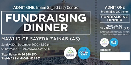 Al-Imam Al-Sajjad (as) fundraiser dinner tickets