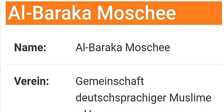 Freitagsgebet 22.01.2021 - Moschee Al-Baraka in Pforzheim Tickets