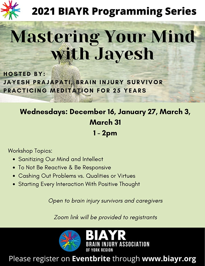 Mastering Your Mind with Jayesh - 2021 BIAYR Programming Series image