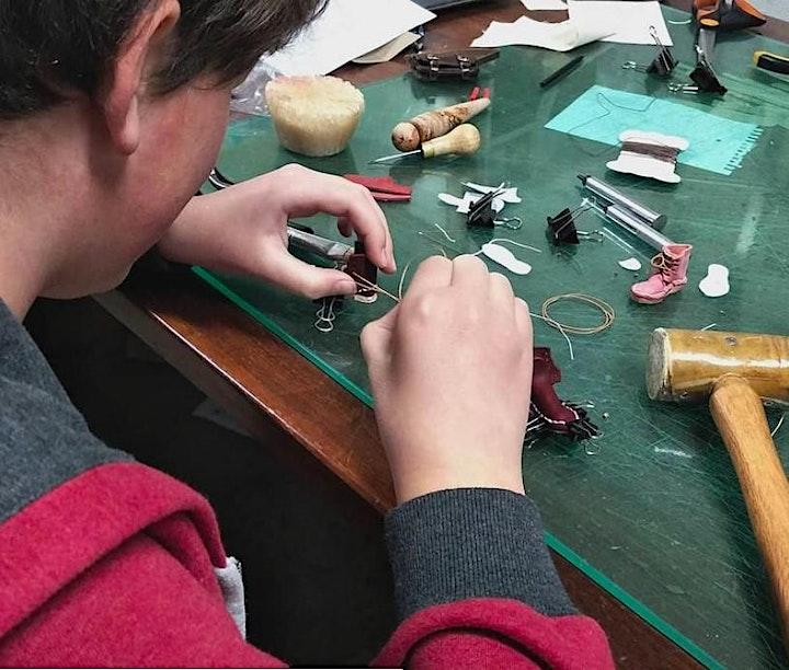 Miniature leather boot making course -Tutor Sarah  image