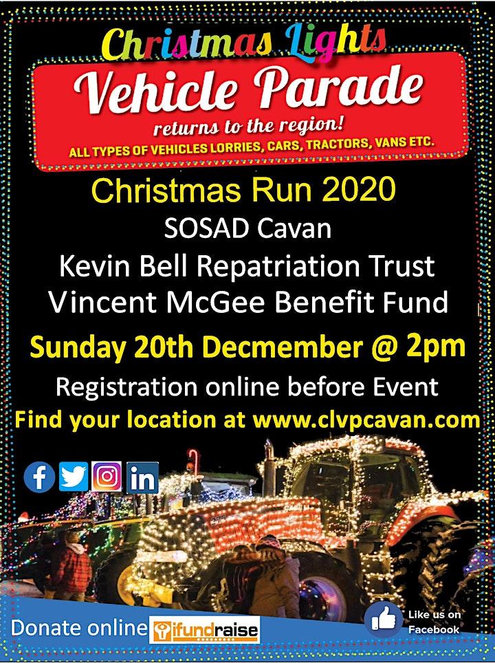 Christmas light vehicle parade 2020 image