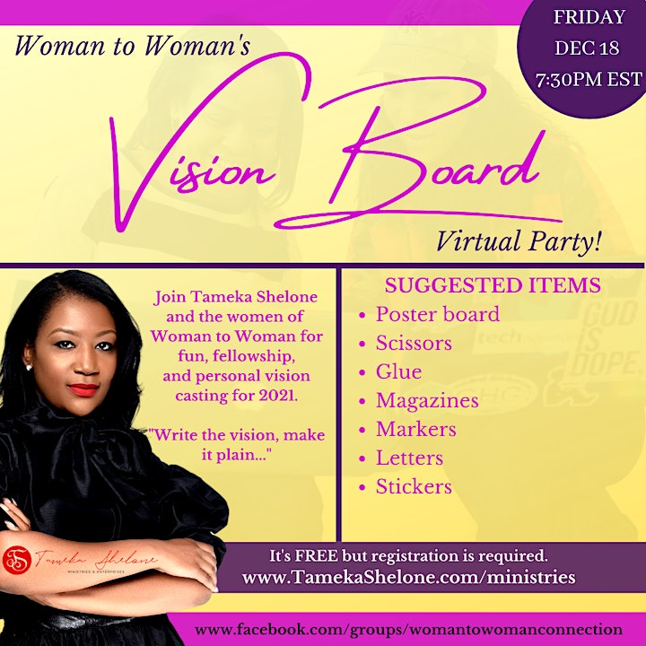 Woman to Woman's Vision Board Party image