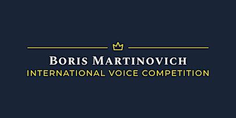 International Voice Competition Boris Martinovich tickets