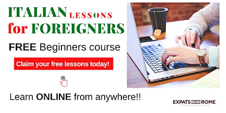 Free Italian lessons for foreigners | Beginners course tickets