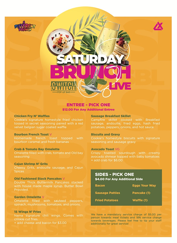Saturday Brunch Live at Switch Pop-Up Bar image