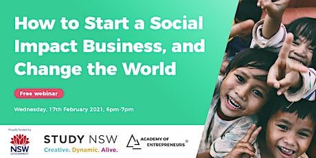 How to Start a Social Impact Business and Change the World tickets